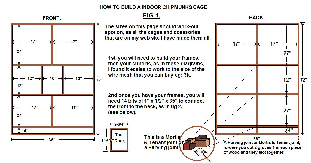 how to build a chipmunk cage